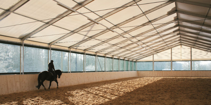 indoor Colorado riding arena